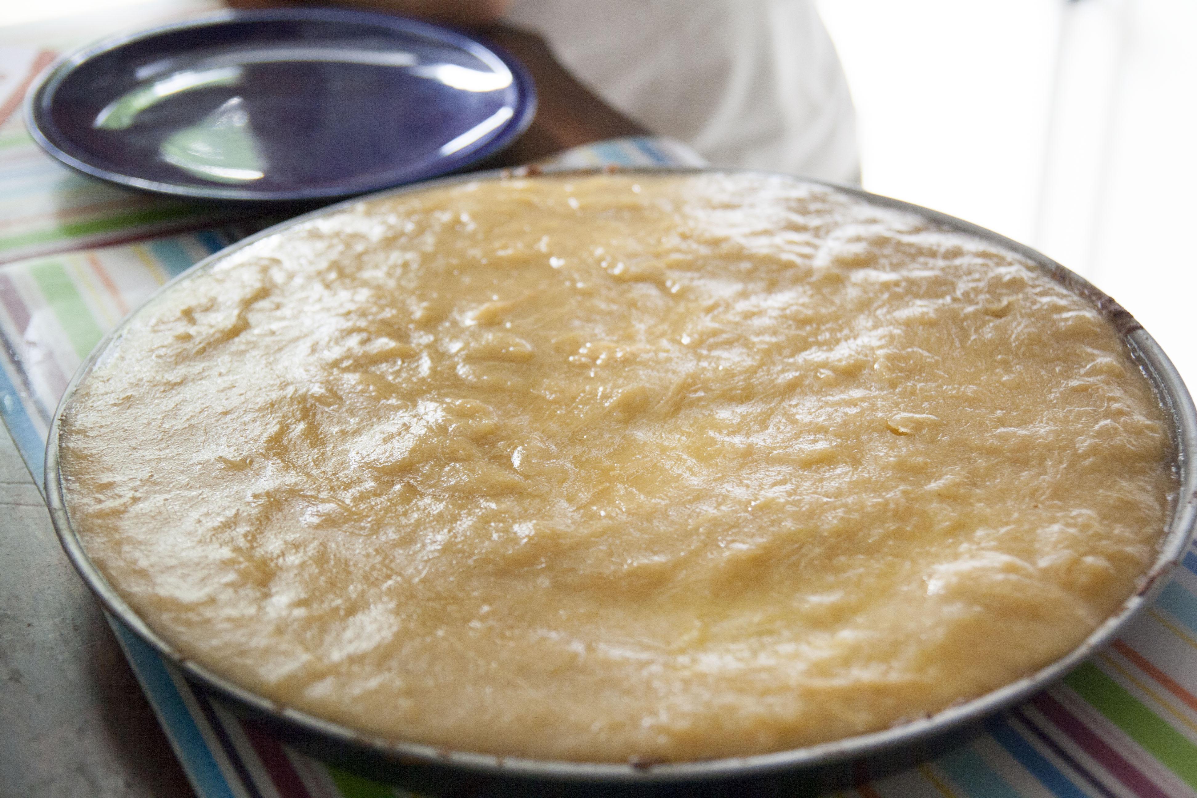 Fertiger Rhabarberkuchen